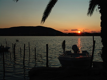 Sonnenuntergang in Aitoliko