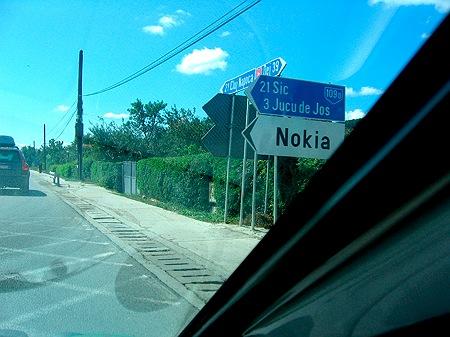 Nokia-Schild
