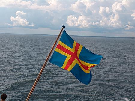 Flagge von Aland