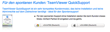 Downloadseite Teamviewr