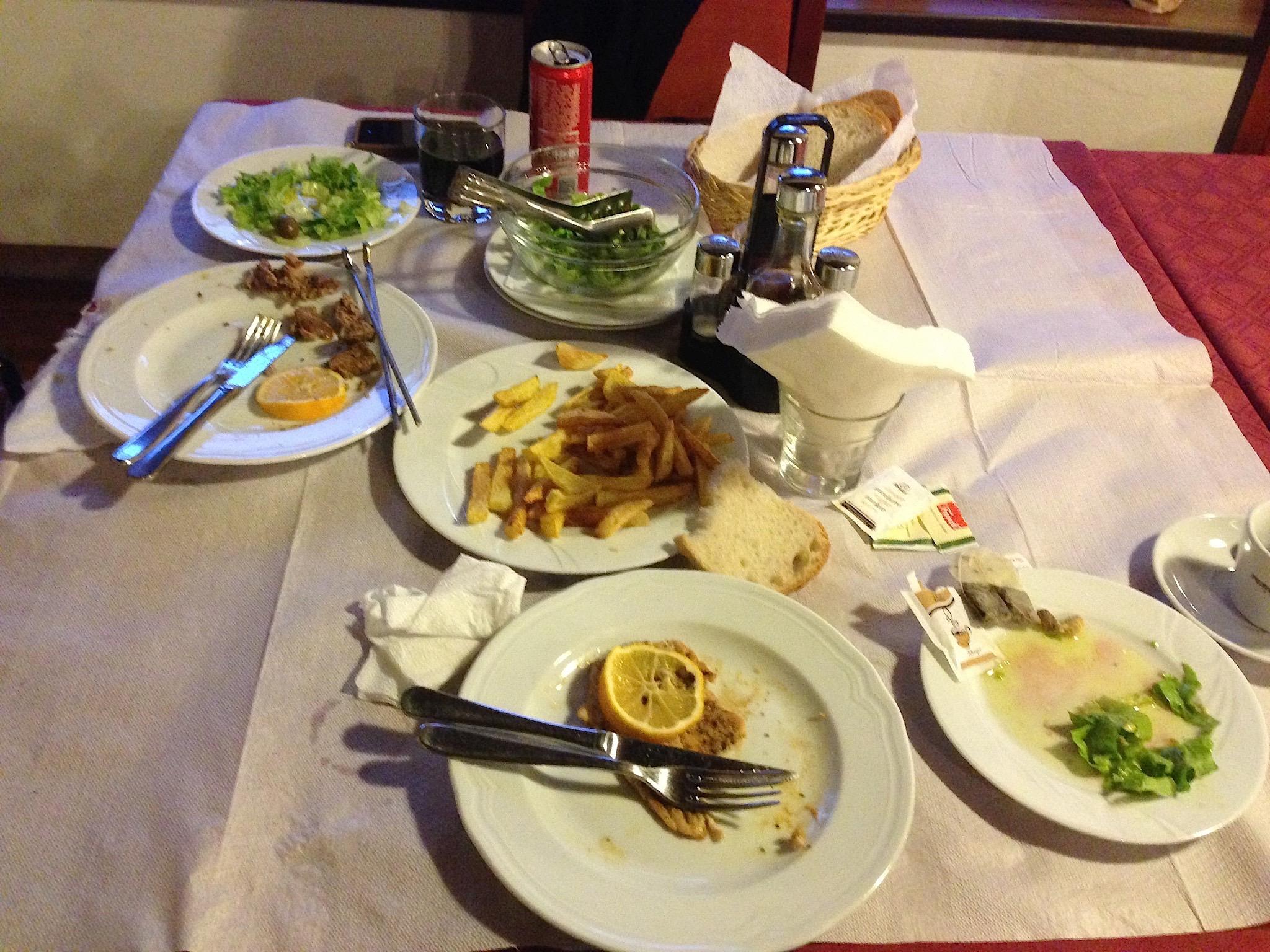 Abendessen in Berat