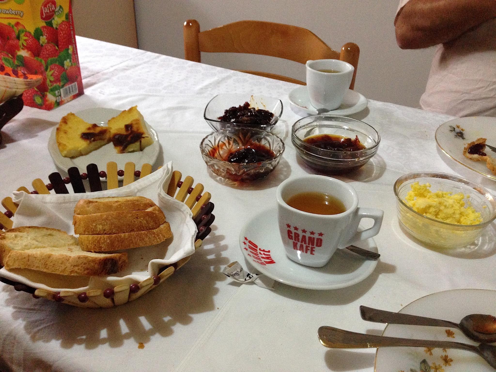 Frühstück in Berat