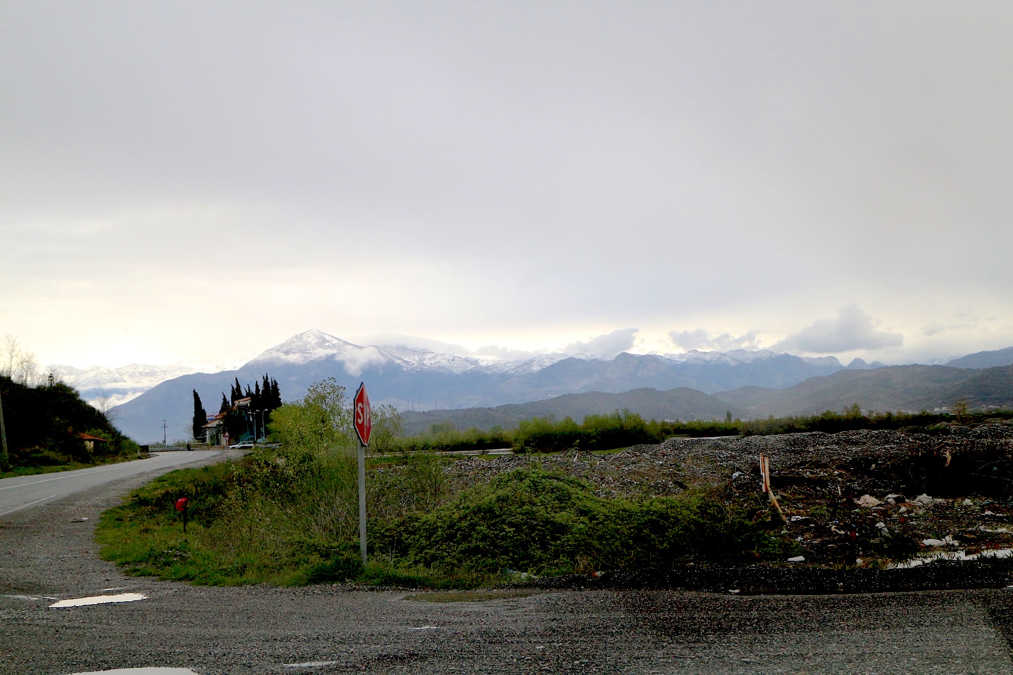 Lezhe Richtung Shkodra