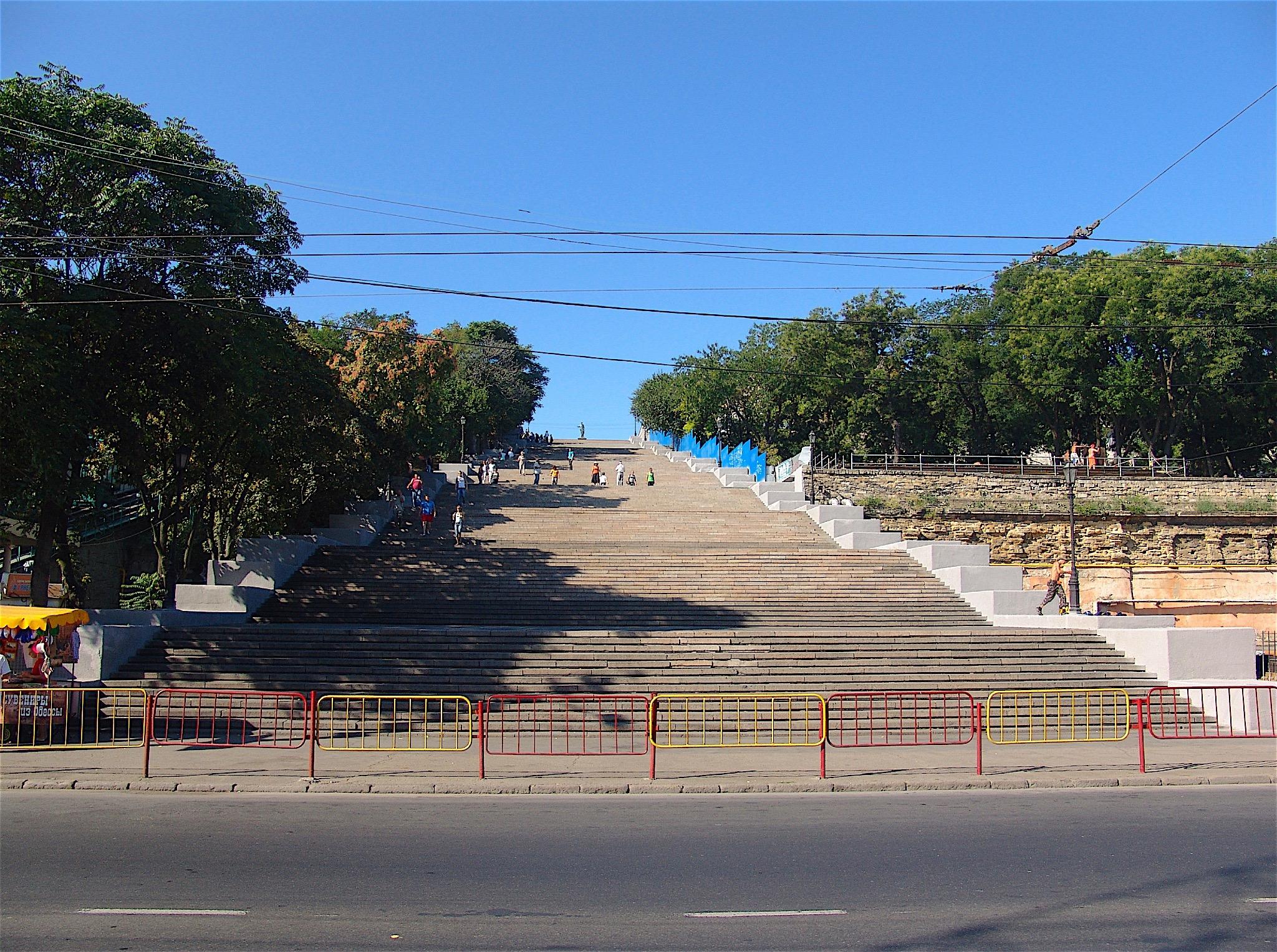 Die berühmte Freitreppe in Odessa